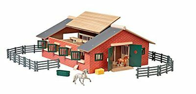 Farm Horses Deluxe Stable Set Stablemates Barn Toys Pretend Play Kids Toddle