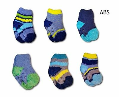 Baby Boy Toddler Cotton Anti Slip ABS Fluffy Warm Winter Socks Size 12M to 3Y