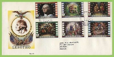Lesotho 1982 250th Birth Anniv of George Washington set First Day Cover