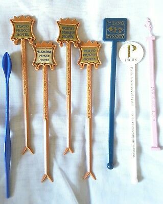 8 vintage assorted drink cocktail stirrers swizzle sticks retro bar