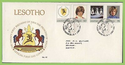 Lesotho 1982 21st Birthday of Princess of Wales set First Day Cover