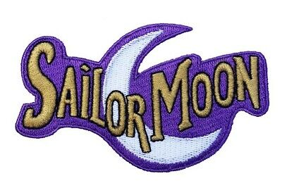 Sailor Moon Logo Patch Embroidered Iron / Sew on Badge Costume Souvenir Luna Cat