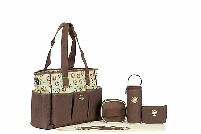 Baby Diaper Bag Nylon Tote Handbag With Changing Pad Large Capacity Fit Stylish