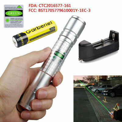 Military 20Miles Green  532nm Laser Pointer Pen Visible Beam Light+18650+Charger