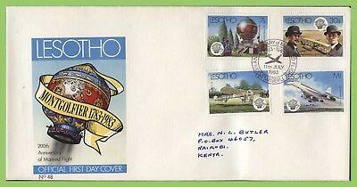 Lesotho 1983 Bicentenary of Manned Flight set First Day Cover