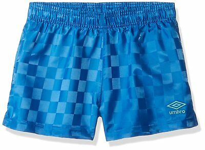 Umbro Girls Classic Checkerboard Shorts, Lapis Blue/Blue Radiance, Small