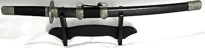 Decorative Samurai Sword Stainless Steel Blade & Solid Wooden Display Stand