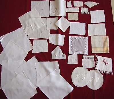 Gros Lot Monogrammes Anciens Broderie  Lot 2