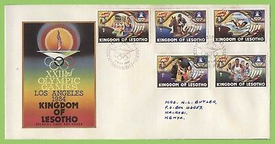 Lesotho 1984 Olympic Games, Los Angeles set First Day Cover