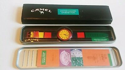 Vintage Camel 90s Retro Wrist Watch United Colors of Benetton Collectable Rare!