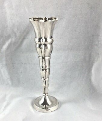 Fancy German 800 Sterling Bud Vase - 4 5/8""