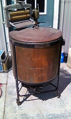 Vtg Antique Easy Vacuum Copper Chrome Brass Electric Washing Machine Runs Good