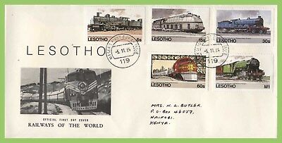 Lesotho 1984 Railways of the World set First Day Cover