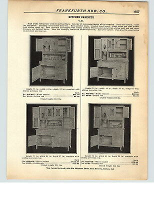1928 PAPER AD 2 Sided IXL Kitchen Cupboard Cabinet Goshen Ind Hoosier Type