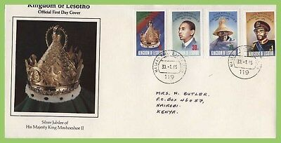 Lesotho 1985 Silver Jubilee of King Moshoeshoe II set First Day Cover