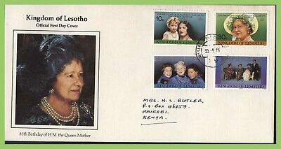 Lesotho 1985 Life and Times of Queen Mother set First Day Cover