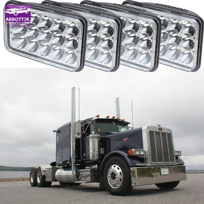 4pcs LED Headlights For Kenworth T800 T400 T600 W900B W900L Classic 120/132 HK
