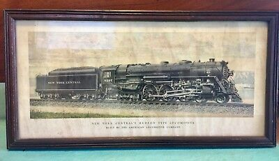 Antique New York CENTRAL'S HUDSON TYPE LOCOMOTIVE 5297 H.O. Bailey Studios Print