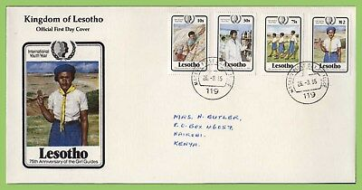 Lesotho 1985 Youth and Girl Guides set First Day Cover