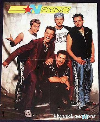 N Sync Justin JC Lance Poster Centerfold 269A Eden's Crush on back