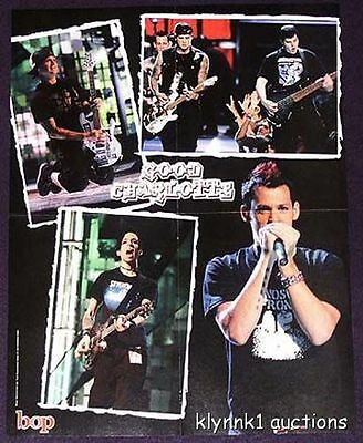 Good Charlotte Benji Joel 2 POSTERS Centerfolds Lot 383A Hilary Duff on the back