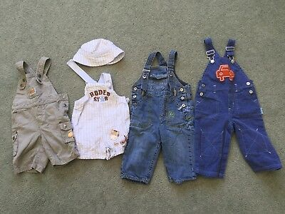 Baby Boy Overalls Clothes Bundle (Size 6-18 Months)