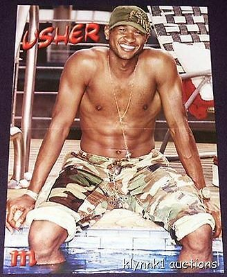 Usher Shirtless Poster Centerfold 142A Ashlee Simpson on back