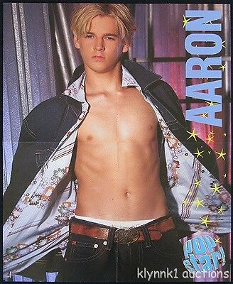 Aaron Carter 2 POSTERS Centerfold Collectible Lot 3327A Hilary Duff on back