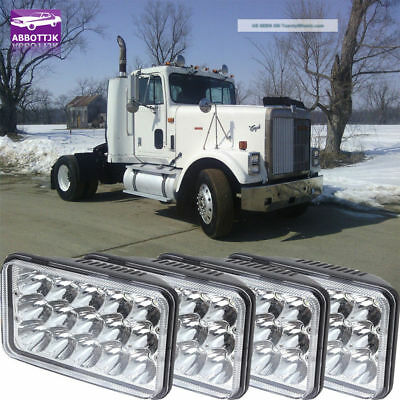 4PCS 4X6INCH LED Headlights For Classic 120 132 Bulb Chevrolet Kodiak C4500