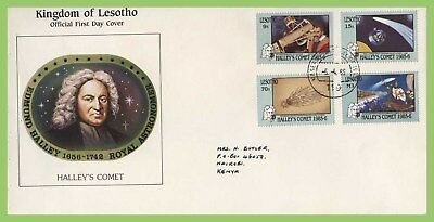 Lesotho 1986 Appearance of Halley's Comet set First Day Cover