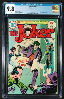 The Joker #1 CGC 9.8!! White Pages!! Rare In Grade! O'Neil/Giordano DC 1975