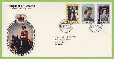 Lesotho 1986 60th Birthday of Queen Elizabeth II  First Day Cover