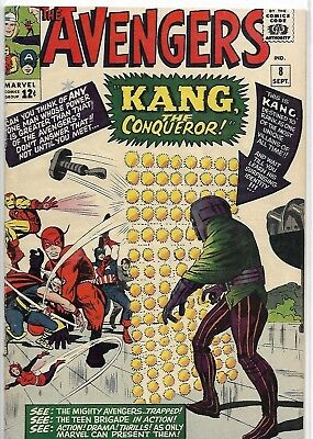 Avengers 8 - Marvel - 1964 - 1st Kang the Conqueror - VF+ - Super Rare KEY