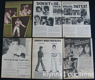 Osmonds Donny Osmond 42 Full page 1970's Vintage clippings Lot 70.808-24