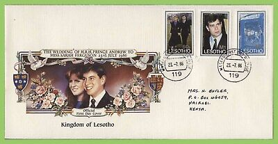 Lesotho 1986 Royal Weddin set First Day Cover