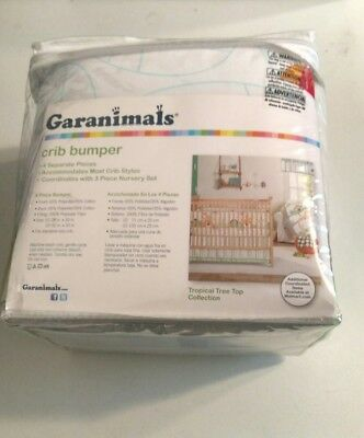 Baby's Tropical Tree Top Collection 4 Pcs. Girl Crib Bumper by Garanimals