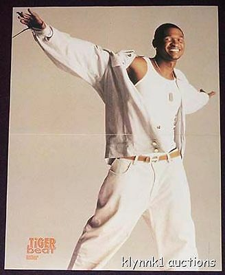 Usher Poster Centerfold 355B  Pink on the back