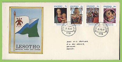 Lesotho 1987 Christmas. Paintings by Raphael set First Day Cover