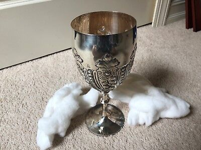 Silver Goblets for Display, Wedding, Centerpiece or Decoration