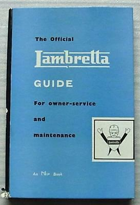 The OFFICIAL LAMBRETTA Guide Owner Service Maintenance Manual 1959 Parts List