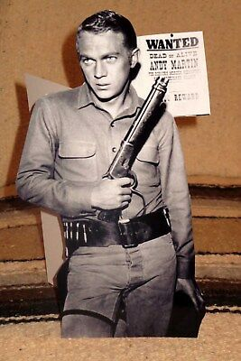 """Wanted Dead or Alive"" Steve McQueen TV Tabletop Display Standee 10.25"" Tall"