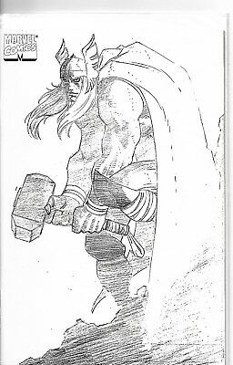 THOR #1 (1998) Heroes Reborn Vol. 2 Sketch Cover Variant Marvel Comics NM+