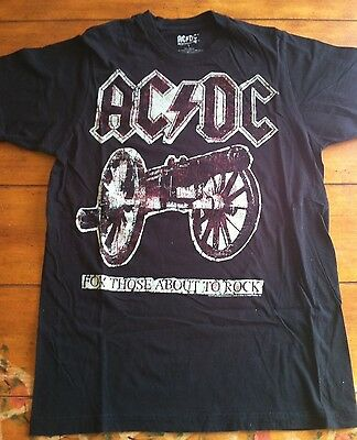 AC/DC For Those About To Rock T Shirt - Size Small - AC/DC Rockware