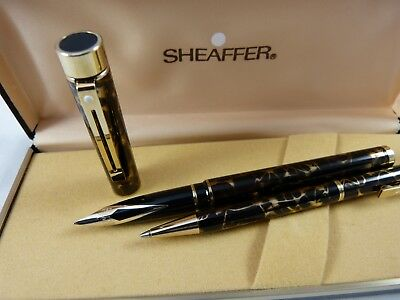 Sheaffer Targa Füllfederhalter 14K 585 M Kugelschreiber FOUNTAIN BALL PEN  MINT