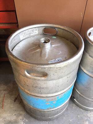 1/2 Barrel Empty Beer Keg - Stainless Steel - 15.5 Gallons