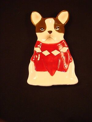French Bulldog w/ red sweater Spoon Rest (American Atelier)