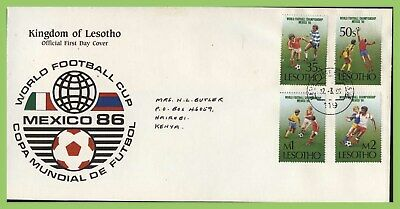 Lesotho 1986 World Cup Football Championship set First Day Cover
