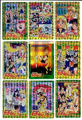 Sailor Moon Holo Prism Sticker Card Lot of 12- Very Rare- Japanese