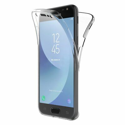 Cover Per Samsung J3 J5 J7 2017 Full Body 360 Fronte Retro Custodia Trasparente