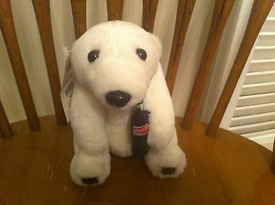 vintage Play-By-Play Toys brand Coca-Cola polar bear plush 1993 Coke Soda Teddy